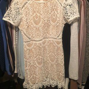 White & tan dress